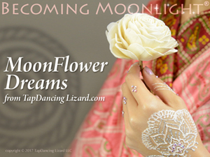 Moonflower dreams Becoming moonlight white henna body art book cover