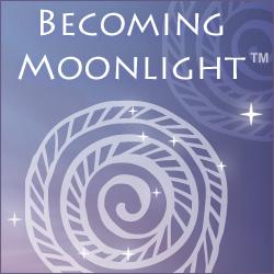Becoming Moonlight 'white henna' body art logo